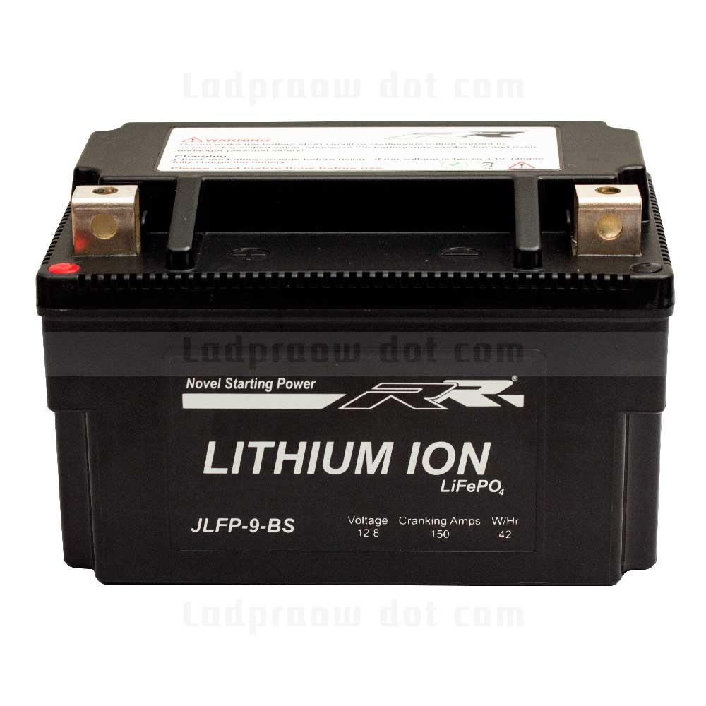 แบตเตอรี่ลิเธียม ไอออน ฟอสเฟต มอเตอร์ไซต์  RR YTX9-BS JLFP-9-BS 12.8V 150CCA LiFePO4
