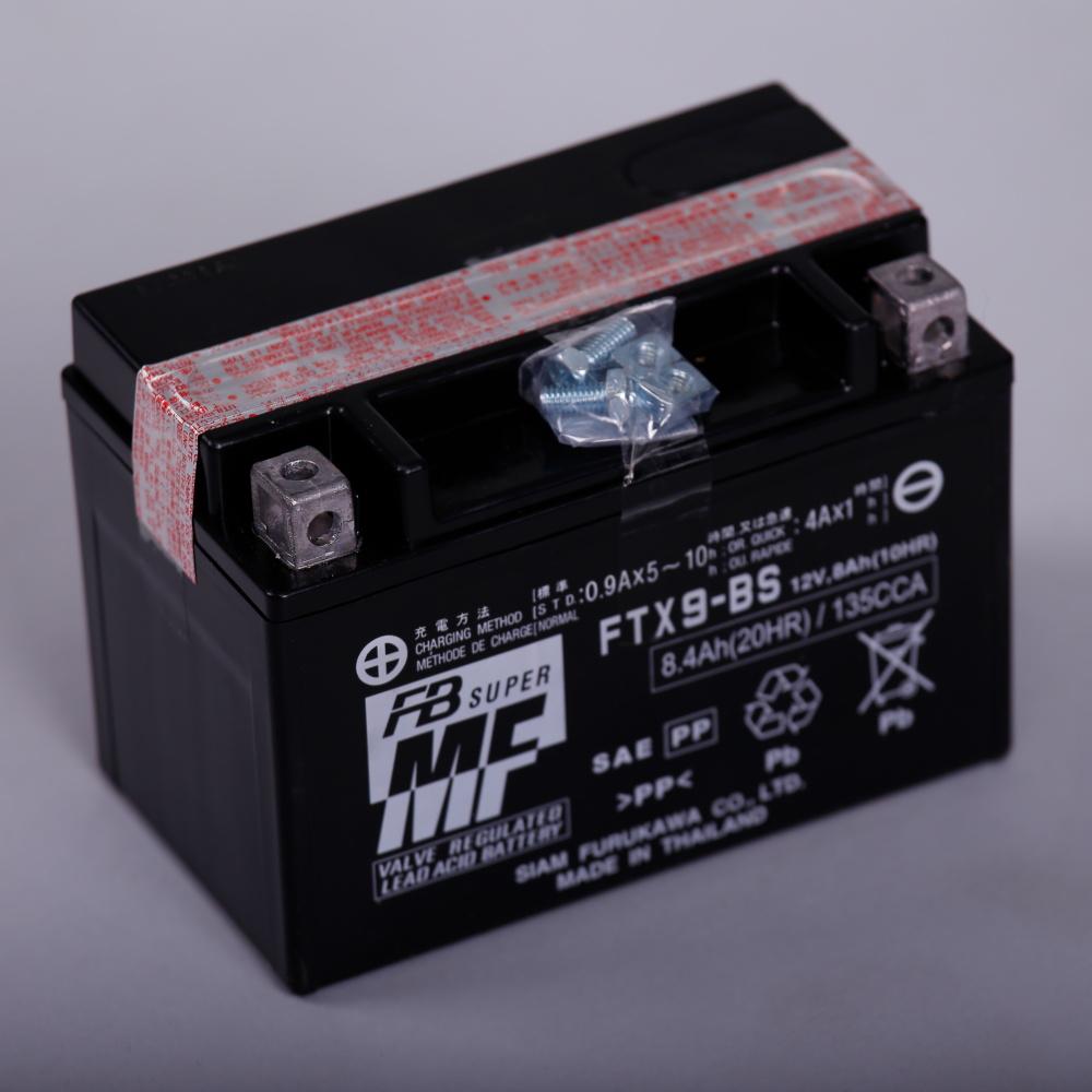 แบตเตอรี่มอเตอร์ไซต์ FB FTX9-BS 12V 8Ah 135 CCA Furukawa Yuasa YTX9-BS