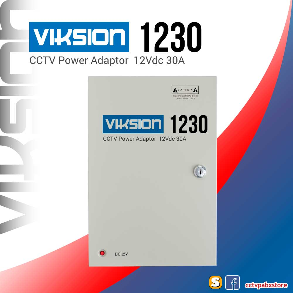 VIKSION 1230 ตู้จ่ายไฟ 18 ช่อง 12V 30A กล้องวงจรปิด 18 จุด CCTV Switching Power Supply