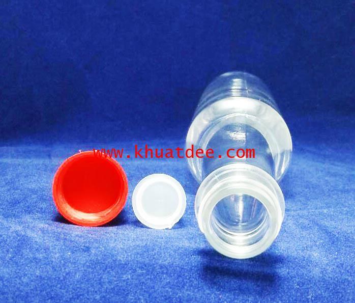ขวด 80 มล.(300 ใบ)พลาสติก (PET)+จุกใน+ฝาแดง 2