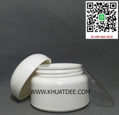 กระปุกครีม 25 กรัม ขาว (1000 ใบ)ฝาทรงโดมสีขาว 4