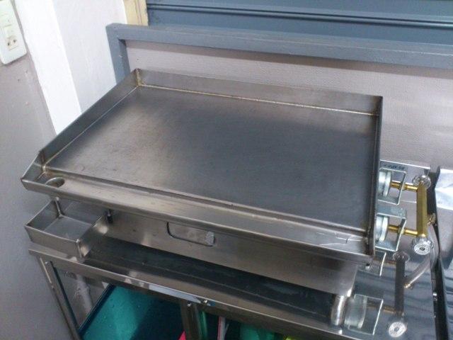 เตาสเต็กใช้แก๊ส สแตนเลสอย่างหนา ขนาด 14x22 นิ้ว ขายถูก 4,090 บาท