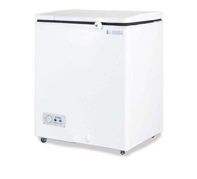 ตู้แช่แข็ง Sanden ขนาด 3.5 คิว (100 ลิตร) ยี่ห้อ Sanden รุ่น SNH-0103