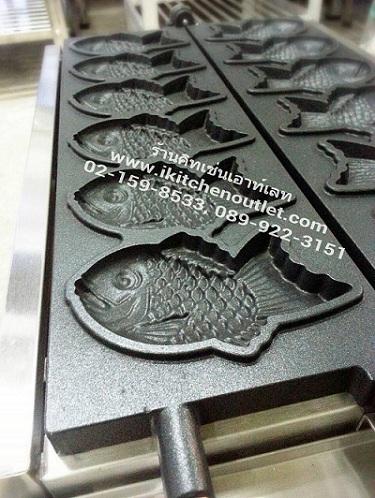 เตาขนมไทยากิ ขนมรูปปลาญี่ปุ่นใช้แก๊ส 2 หัวเตา ยี่ห้อนาโนเทค รุ่น SC-101 2