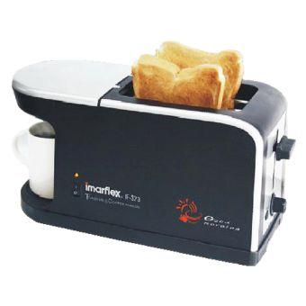 เครื่องปิ้งขนมปัง+เครื่องชงกาแฟ ยี่ห้ออีมาร์เฟล็กซ์ (Imarflex) รุ่น IF-373 ราคาถูก