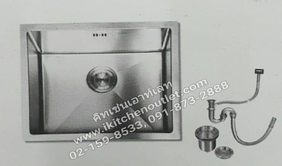 หน้าซิงค์ล้างจาน 1 หลุม สแตนเลส ยี่ห้อนาโนเทค รุ่น 5244