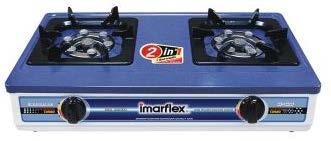 เตาแก๊สตั้งโต๊ะ 2 หัวเตา หัวเทอร์โบ ยี่ห้ออีมาร์เฟล็กซ์ รุ่น IG-428