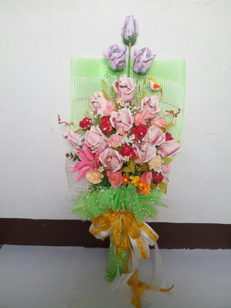 ดอกไม้ช่อยาวสีเขียวสดใส