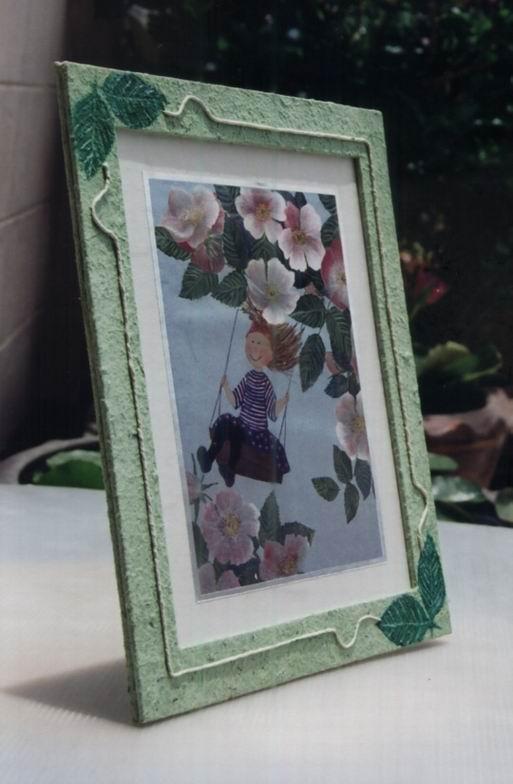 กรอบรูปจากกระดาษสับปะรด