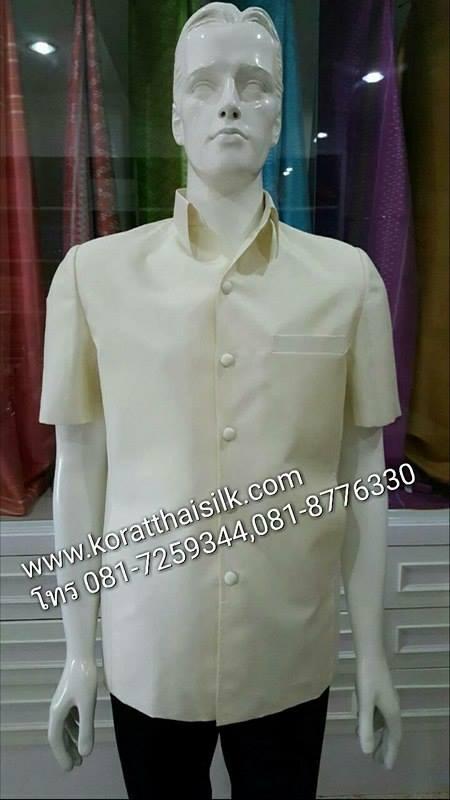 เสื้อไหมสีขาวงาช้าง Size m(1) ราคา1,890.-