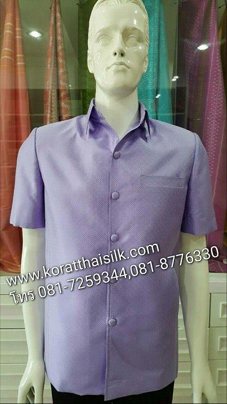 เสื้อไหมลูกแก้วสีม่วง Size M ราคา 1,990.-