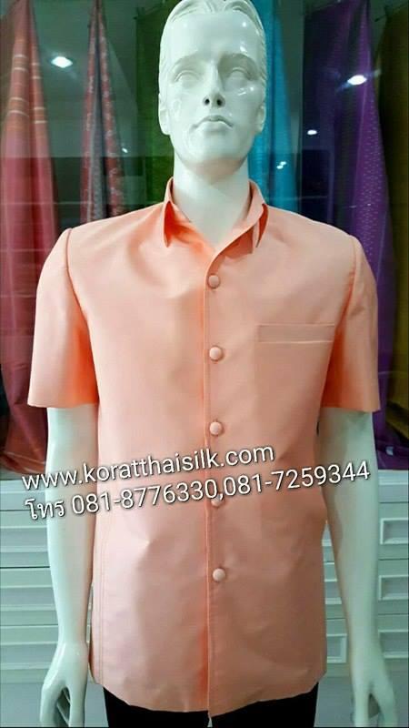 เสื้อไหมซาฟารี สีครีมโอโรส  Size M(1) L(1)ราคา 1,890.-