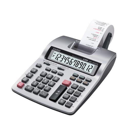 เครื่องคำนวณเลข CASIO HR-150TM-B  (12 หลัก ,มีกระดาษ)