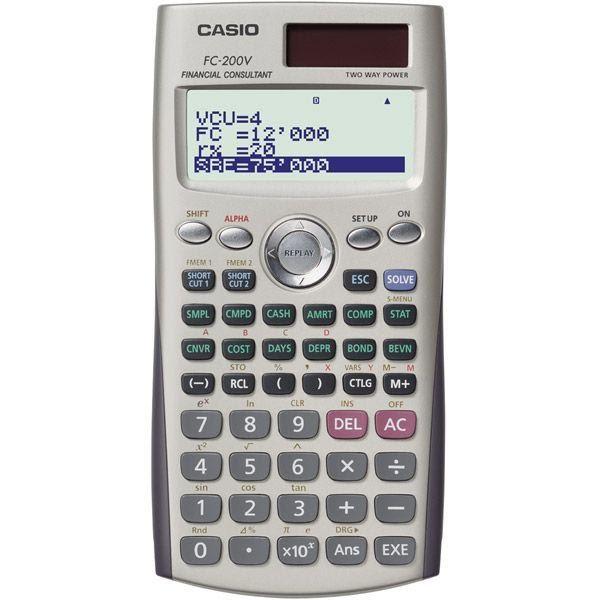 เครื่องคิดเลข คาสิโอ FC-200V + คู่มือภาษาไทยแบบละเอียดยิบทุกฟังชั่น