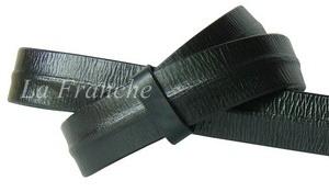 เข็มขัด Handmade สีดำ ลายจีบกลาง กว้าง 1.3 นิ้ว