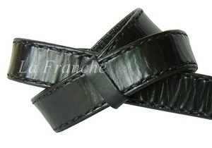 เข็มขัด Handmade สีดำ ลายเย็บด้าย กว้าง 1.3 นิ้ว