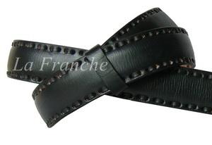 เข็มขัด Handmade สีดำ ลายเย็บหนัง กว้าง 1.3 นิ้ว