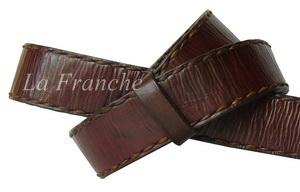 เข็มขัด Handmade สีน้ำตาล เย็บด้ายเทียน, กว้าง 1.3 นิ้ว