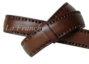 เข็มขัด Handmade สีน้ำตาล เย็บหนัง, กว้าง 1.3 นิ้ว
