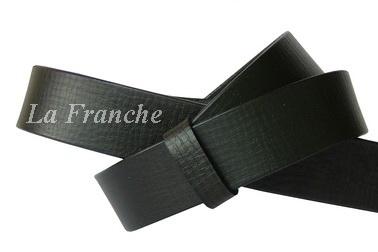 เข็มขัดหนังแท้แผ่นเดียว ลายมุ้ง สีดำ กว้าง 1.3 นิ้ว