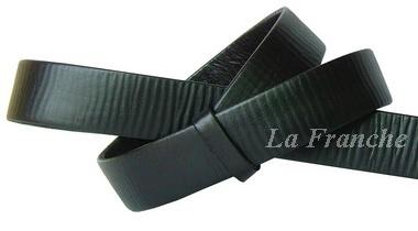 เข็มขัด Handmade ลายหนังธรรมชาติ สีดำ, กว้าง 1.2 นิ้ว