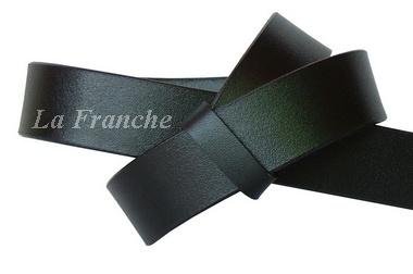 เข็มขัดหนังแท้แผ่นเดียว สีดำ, กว้าง 1.2 นิ้ว
