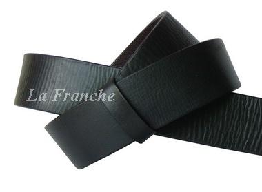 เข็มขัด Handmade ลายหนังธรรมชาติ สีดำ, กว้าง 1.5 นิ้ว