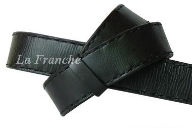 เข็มขัด Handmade สีดำ เย็บด้ายเทียน, กว้าง 1.5 นิ้ว