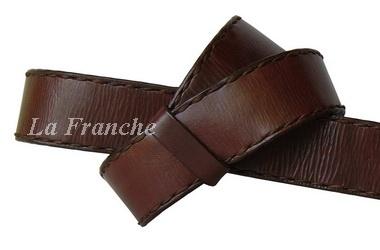เข็มขัด Handmade สีน้ำตาล เย็บด้ายเที่ยน กว้าง 1.5 นิ้ว