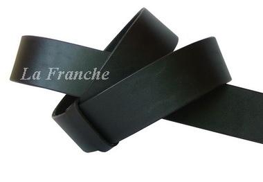 เข็มขัดหนังแท้แผ่นเดียว สีดำ หนา 4 มม. จากอิตาลี , กว้าง 1.5 นิ้ว