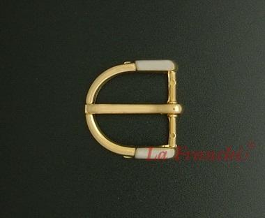 หัวเข็มขัด 2 กษัตริย์ (ชุบนิกเกิ้ล-ทอง), ขนาด 1 นิ้ว - code 1G01006s