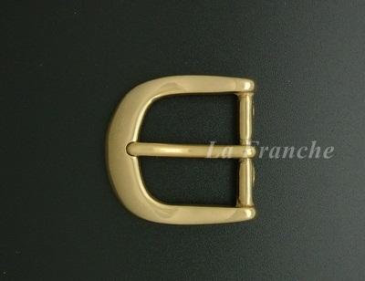 หัวเข็มขัดทองเหลืองแท้เงา ขนาด 1.2 นิ้ว - code 2M01004s