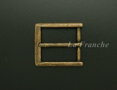 หัวเข็มขัดทองเหลืองแท้สีแอนติค, ขนาด 1.2 นิ้ว - code 2M01027a