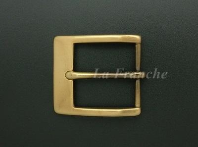 หัวเข็มขัดทองเหลืองแท้เงา, ขนาด 1.3 นิ้ว - code 3M01003s