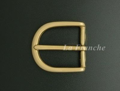หัวเข็มขัดทองเหลืองแท้เงา, ขนาด 1.2 นิ้ว - code 2M01001s