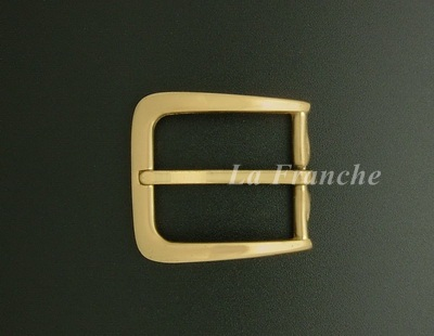 หัวเข็มขัดทองเหลืองแท้เงา, ขนาด 1.2 นิ้ว - code 2M01017s