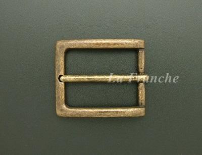 หัวเข็มขัดทองเหลืองแท้สีแอนติค, ขนาด 1.2 นิ้ว - code 2M01028a