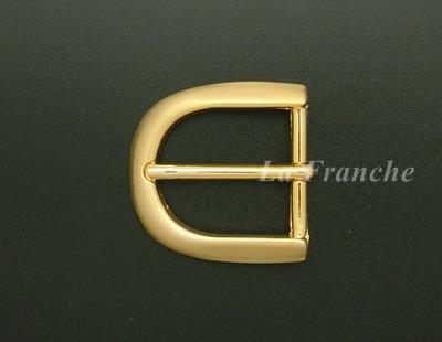 หัวเข็มขัดสีทองชุบ, ขนาด 1.2 นิ้ว - code 2G01003