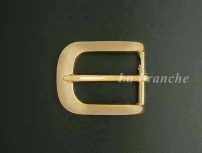 หัวเข็มขัดสีทองชุบ เงา, ขนาด 1.2 นิ้ว - code 2G01011s