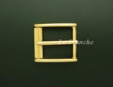 หัวเข็มขัดสีทองชุบ เงา, ขนาด 1.2 นิ้ว - code 2G01038s