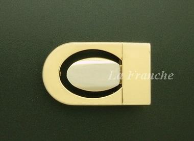 หัวเข็มขัดหนีบเกี่ยว สีทองชุบ, ขนาด 1.2 นิ้ว - code 2G05029