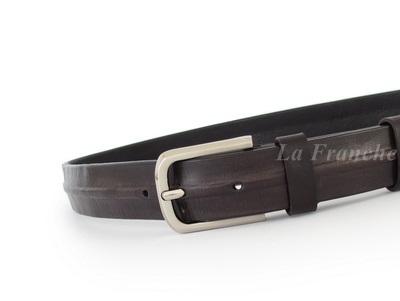 เข็มขัด Handmade สีดำ พร้อมหัวเข็มขัดนิกเกิ้ล , กว้าง 1.2 นิ้ว