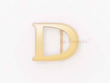 หัวเข็มขัดทองเหลือง อักษร D (เฉพาะหัว)