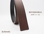 3.1 cm. Reversible Nappa Brown (Code : 31M0209)