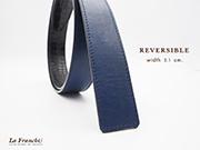 3.1 cm. ReversibleNappa Royal Blue (Code : 31M0210)