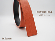 3.1 cm. Reversible Pebble Orange (Code : 31M0211)