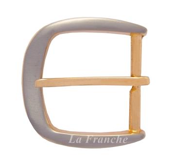 หัวเข็มขัด 2 กษัตริย์ (ชุบนิกเกิ้ล-ทอง), ขนาด 1.2 นิ้ว - code 2G13