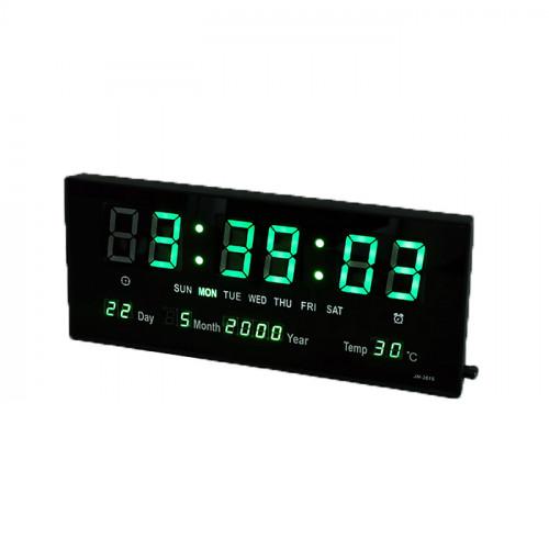 นาฬิกาแขวนผนังระบบ Green LED Calendar Wall Clock JH3615G