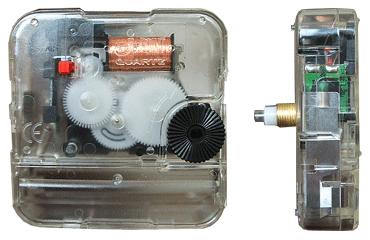 ชุดเครื่องนาฬิกา J.point แกน 13.5 mm. (ตัวถังใส)