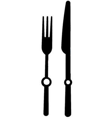 เข็มนาฬิกา รุ่นส้อมและมีดใหญ่ Fork & Knife (Large)